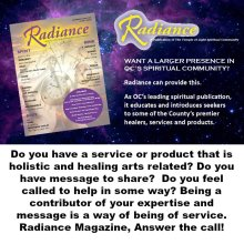 Radiance Magazine Website Home page